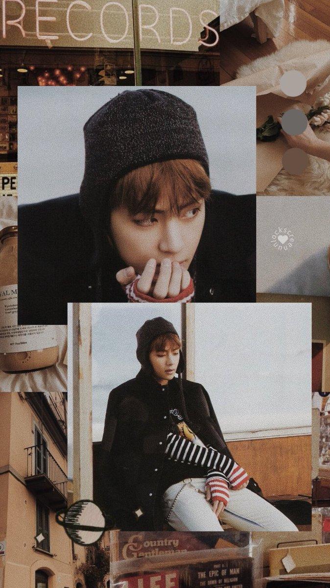 Lockscreen On Twitter Kim Taehyung V Of Bts Beige Aesthetic Fav Se Gostou Fav If You Like Rt Se Salvou Rt If You Saved Screenshot If You Used Mia