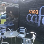 The #SNAQCafe seems to bring the sun ☀️ with it to these events. All set up at #Dalby #Yorkshire for Round 2 of the @HSBC_Sport @BritishCycling MTB National Series