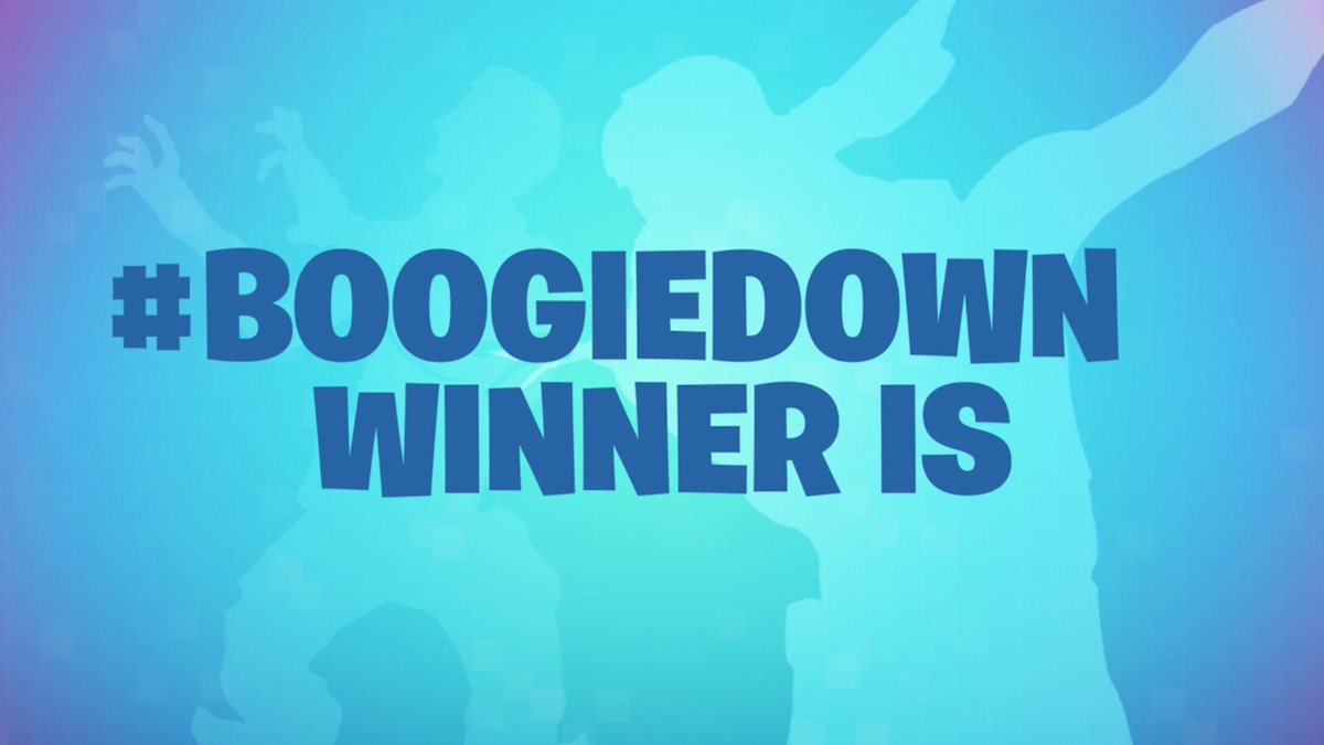 Presenting our top winners for the #boogiedown contest. Big thank you to everyone who stepped up and got down!   ALL WINNERS + MORE INFO: https://www.epicgames.com/fortnite/en-US/news/boogiedown-contest-announce…