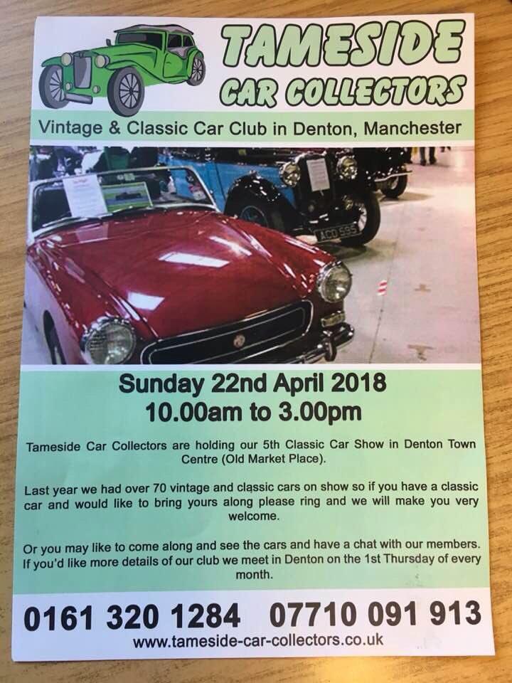 Sunday&#39;s Special Event #Denton &quot;Tameside Car Collection&quot; @Tameside_Hour @TamesideRT #Tameside @tamesideradio @newsintameside @WeLoveDenton @Finalfixltd @L4Alettings @DentonWestCC @DentonTwinning @Haughton_Green @GwynneMP #Stockport #Oldham #AshtonunderLyne<br>http://pic.twitter.com/7TPG7WujVK
