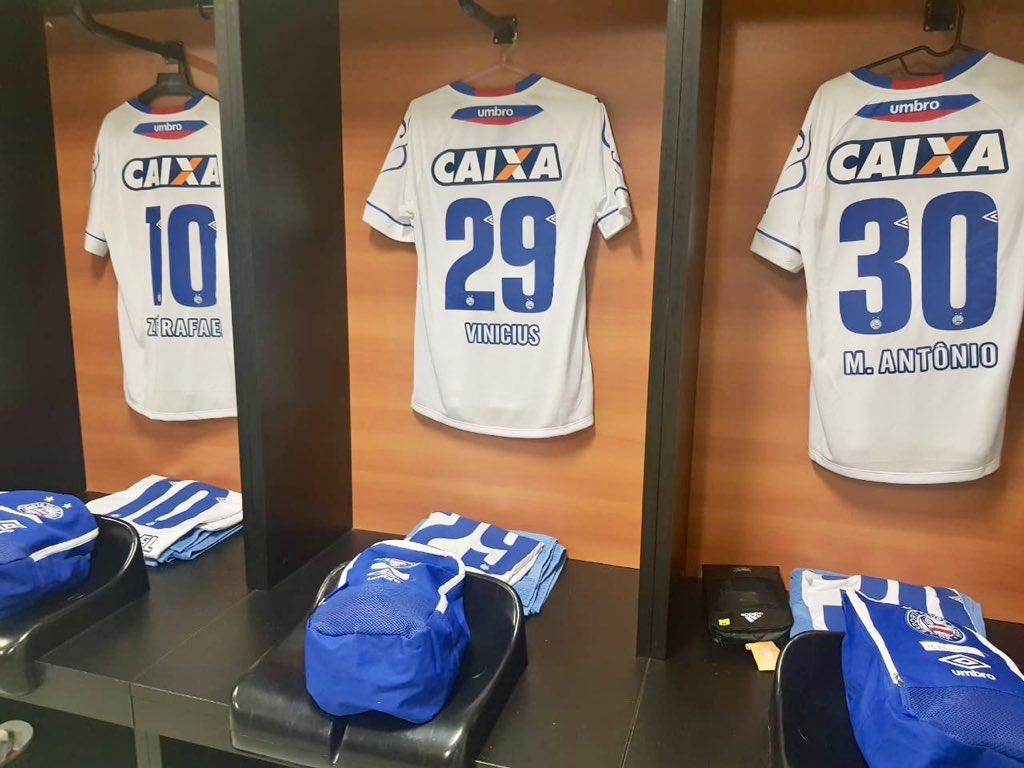 Camisa nova, pronta para a estreia! 🇷🇺 #BBMP #DeBermudaECamiseta #BAHxSAN https://t.co/Za5XNBSqGS