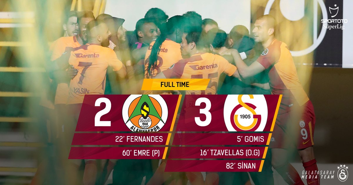 Escaping a scary one in Alanya, bagging three points home! #WeAreGalatasaray #Mission21