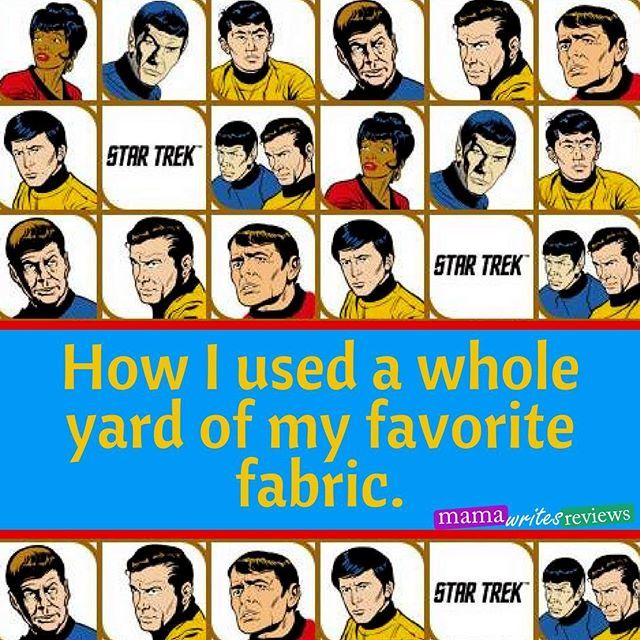 I found a #fabric I love. I wanted to use every bit possible. Here are the three #projects I made with it! #mamawritesreviews #sewing #tutorials #startrek  https:// ift.tt/2vvWwOY  &nbsp;    https:// ift.tt/2HEP9tf  &nbsp;  <br>http://pic.twitter.com/pMnLwqwIkv