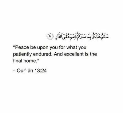 Vidya Spaey On Twitter Peace Be Upon You For What You Patiently Endured And Excellent Is The Final Home Ar Ra D 24