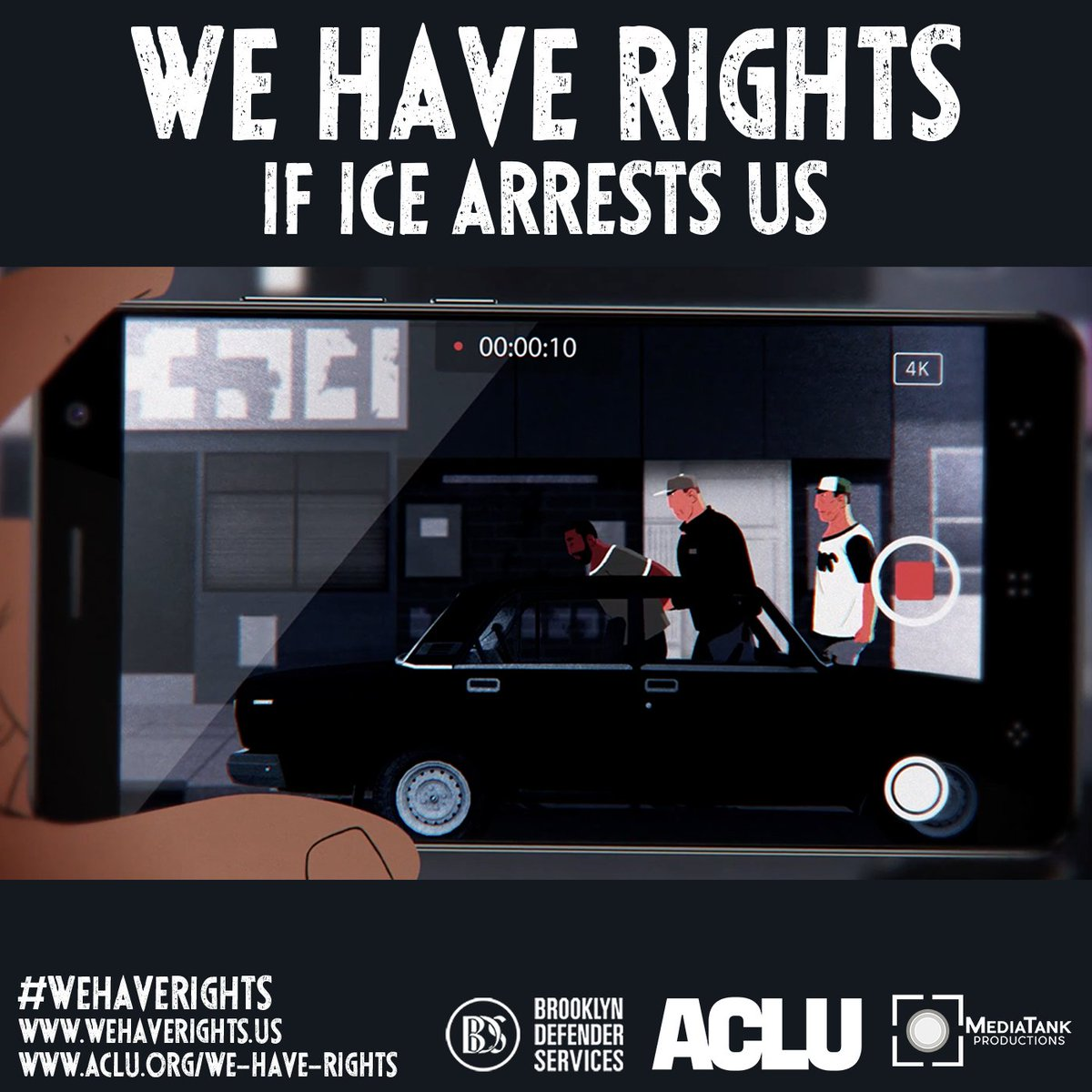 If you witness #ICE making an arrest, it is your right to document what you see by taking notes or videotaping. Do not interrupt the arrest, but you have the right to ask for identification and badge numbers. Learn more at https://t.co/GnWtGpJ6K7   #WeHaveRights