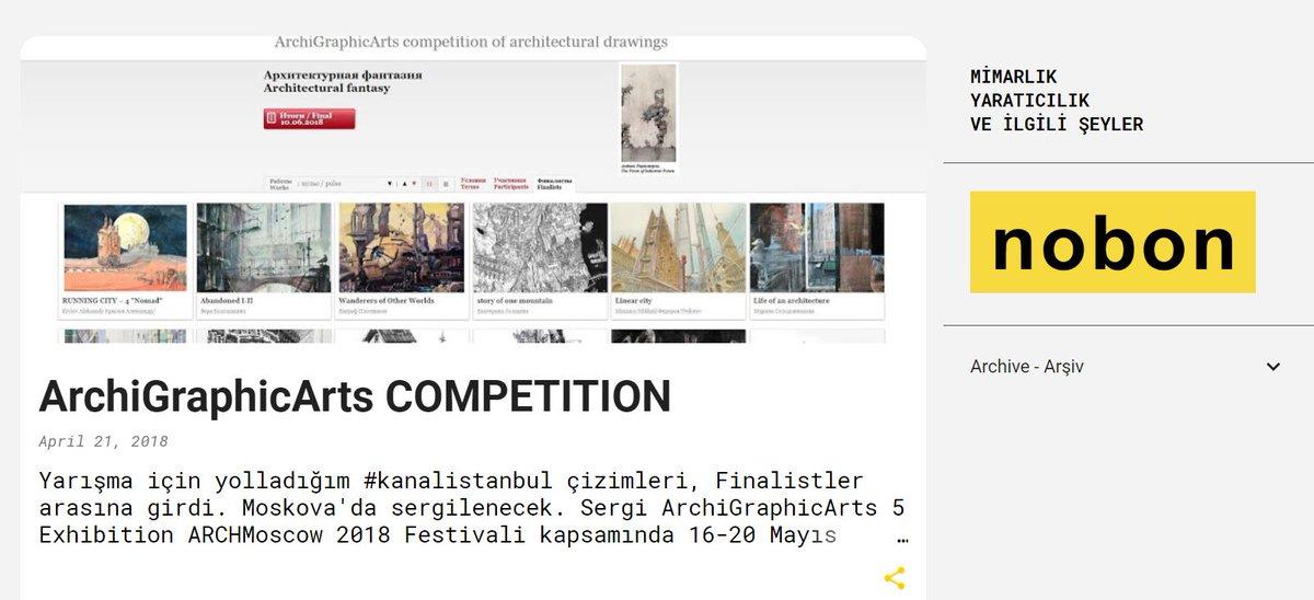 Çizimlerim ArchiGraphicArts 5 sergisinde - ARCHMoscow 2018 Festivali'nde 16-20 Mayıs  Moskova #sergi  http://www.hasancenkdereli.com/2018/04/archigraphicarts-competition.html…pic.twitter.com/7E3pqjL7oG
