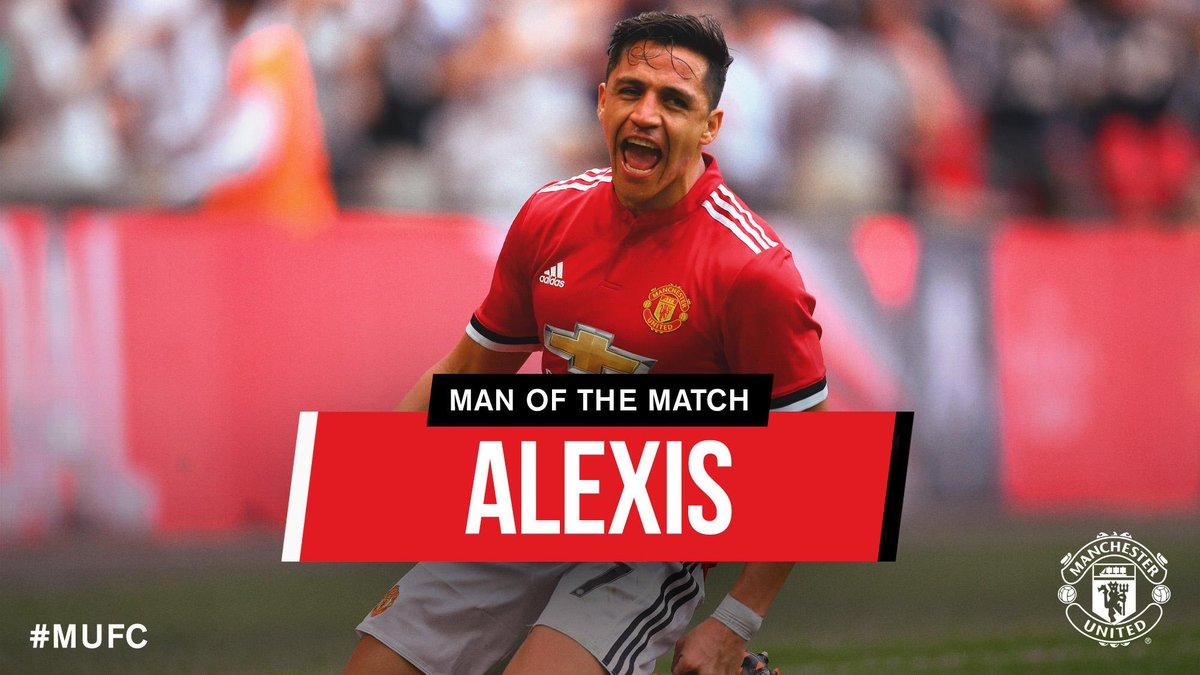 Ladies and gentlemen, your #MUFC Man of the Match: @Alexis_Sanchez. 👏👏  #EmiratesFACup