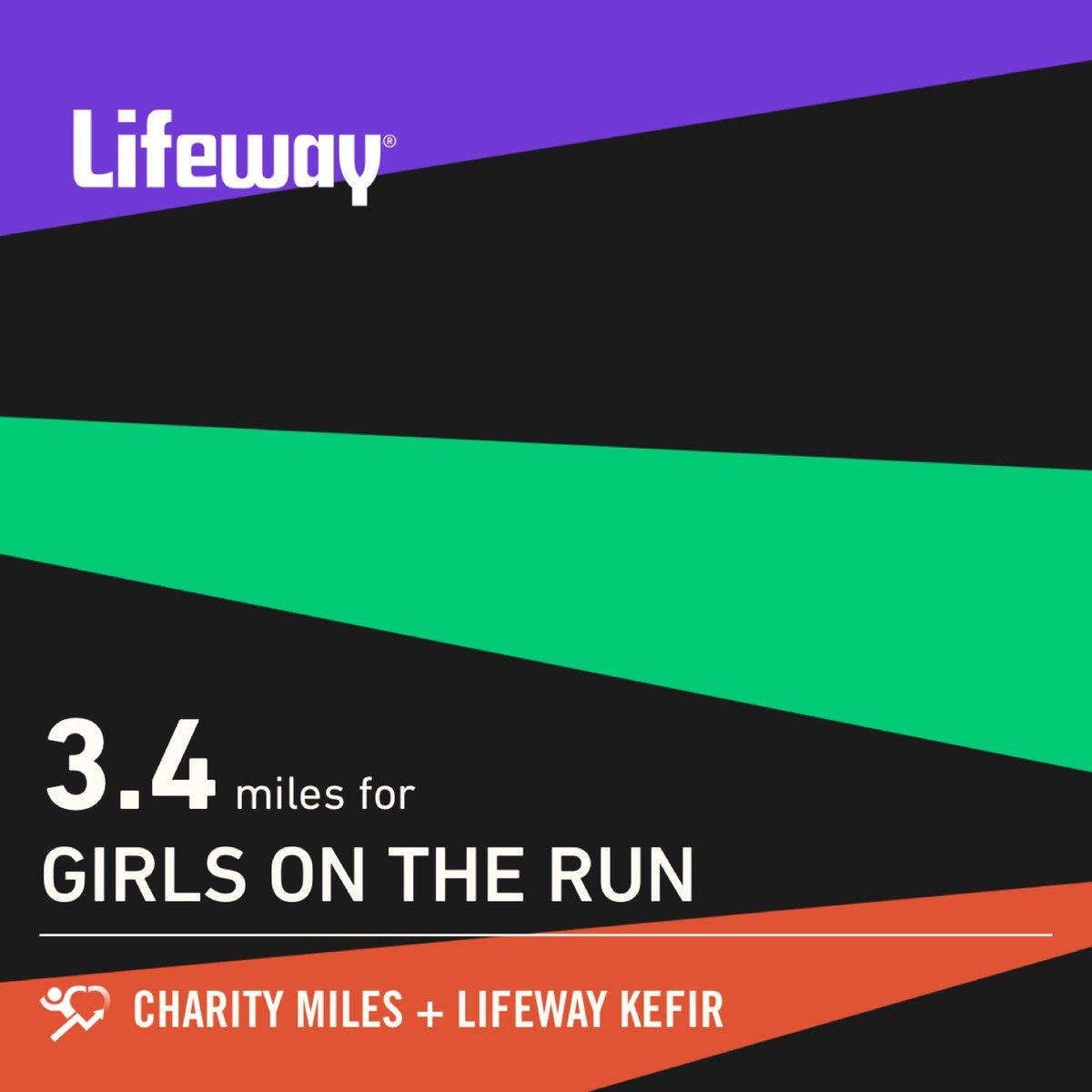 3.4 @CharityMiles for @GOTRI. Thanks to @Lifeway_Kefir. Good luck to everyone running the #BostonMarathon! #LoveYourGuts