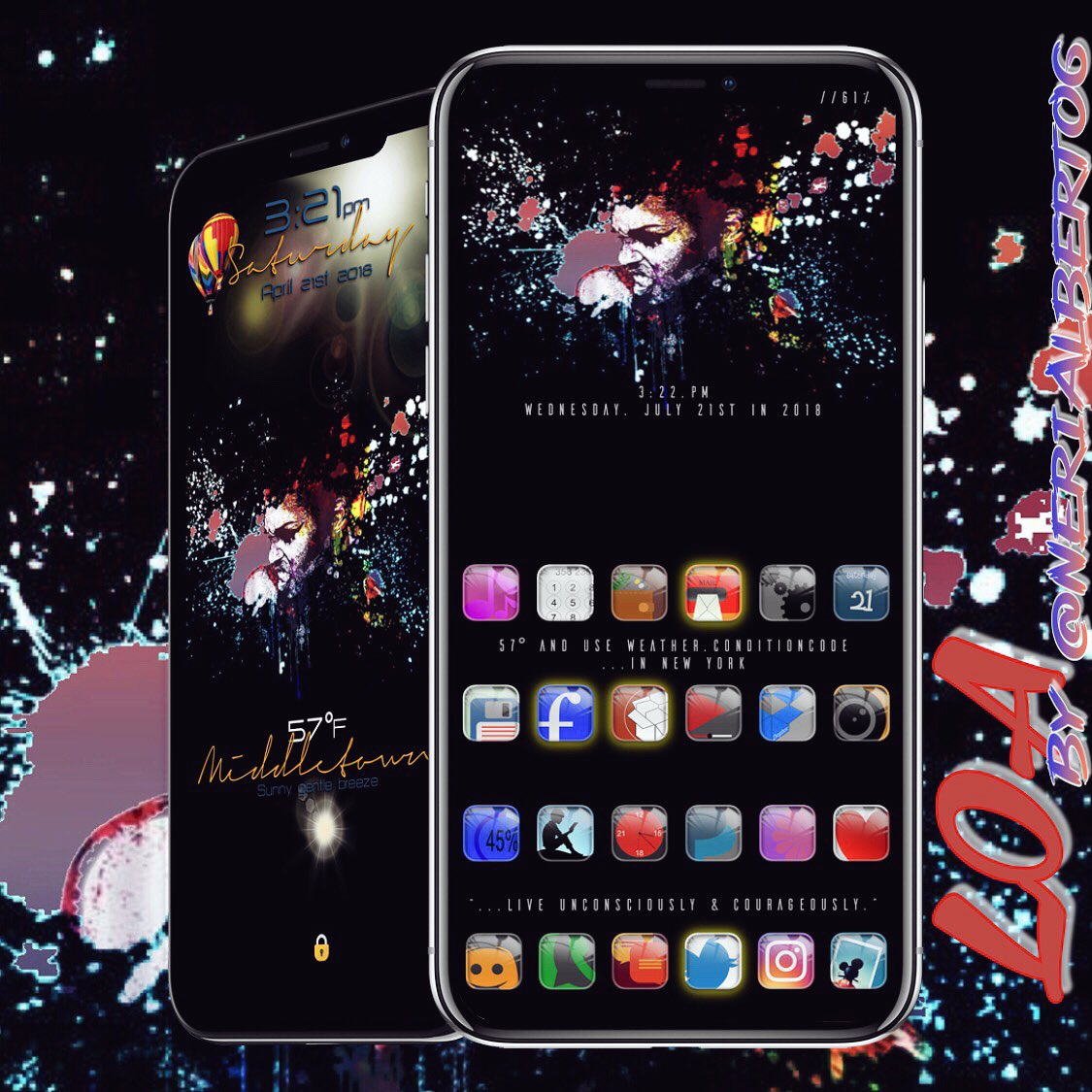 """""""Living Unconsciously Couragous"""" w/ LOA by @nerialberto6. A theme that's Colorful, beautiful &amp; bold! Daps To: @chvylvr6972 #JA1.B3@JunesIphone #xeninfo @prosper406 #ae.glass #uniaw7.1_Elegante @zestlabs_ #ReformX @_Matchstic  #XenHTML Ayeee credit to all contributors # <br>http://pic.twitter.com/uW0iVAn12F"""