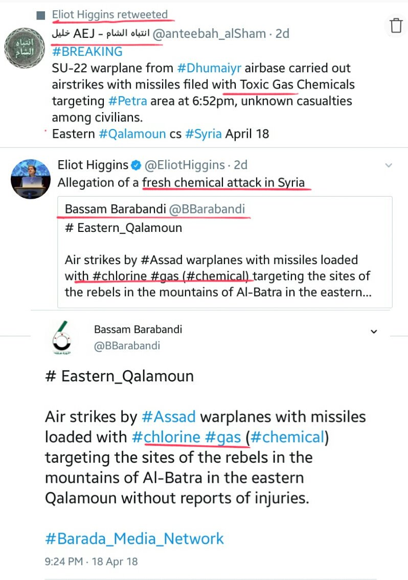 You can always say for sure when &amp; where western-backed jihadi terrorists are about to lose!  Another day, another #Fake #ChemicalAttack/#Chlorine   This time #Petra #Qalamoun  #Syria<br>http://pic.twitter.com/6ogrZ7Pgrh