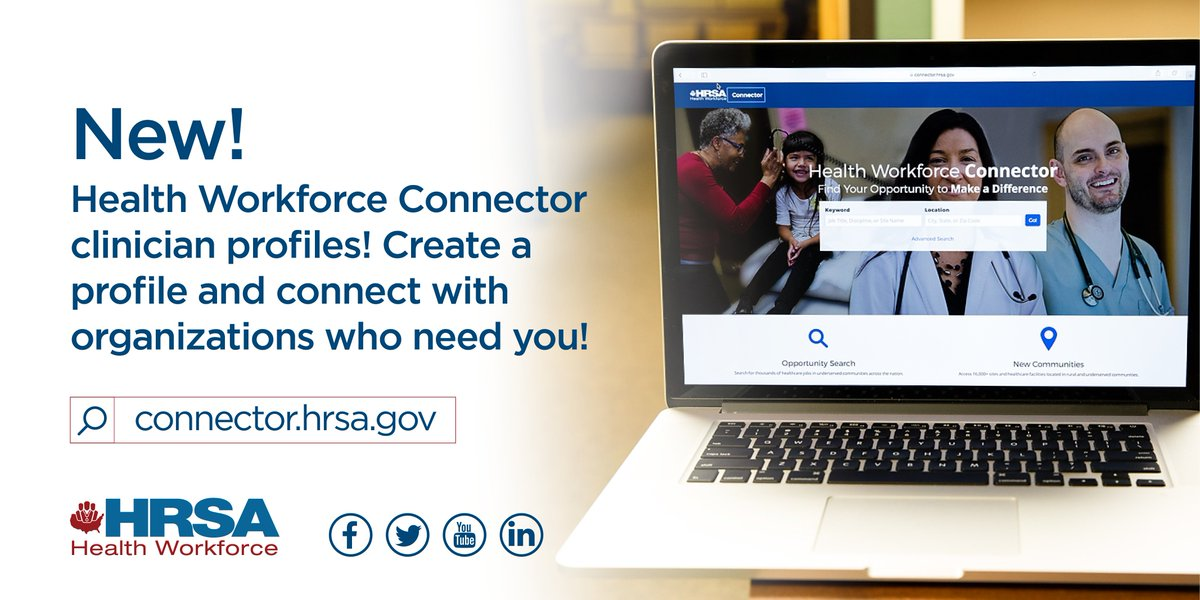 Thousands of cities, thousands of sites, thousands of opportunities just for you. Create your NHSC Health Workforce Connector profile today! https://t.co/HRdcShrtmM