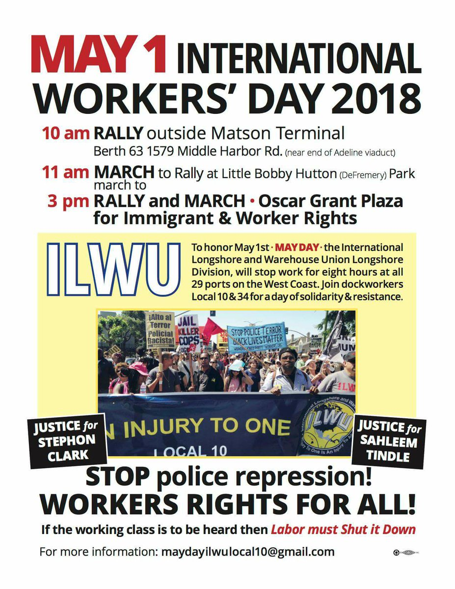 May Day – International Workers Day @ Berth 63 | Oakland | California | United States