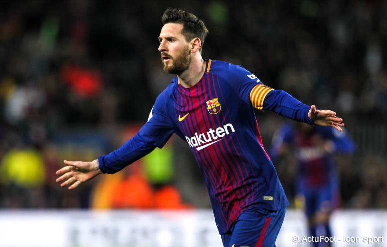 RECORD ! Lionel Messi devient le premier joueur de l'Histoire à marquer dans 5 finales de Coupe du roi (2009, 2012, 2015, 2017, 2018). 👏🐐