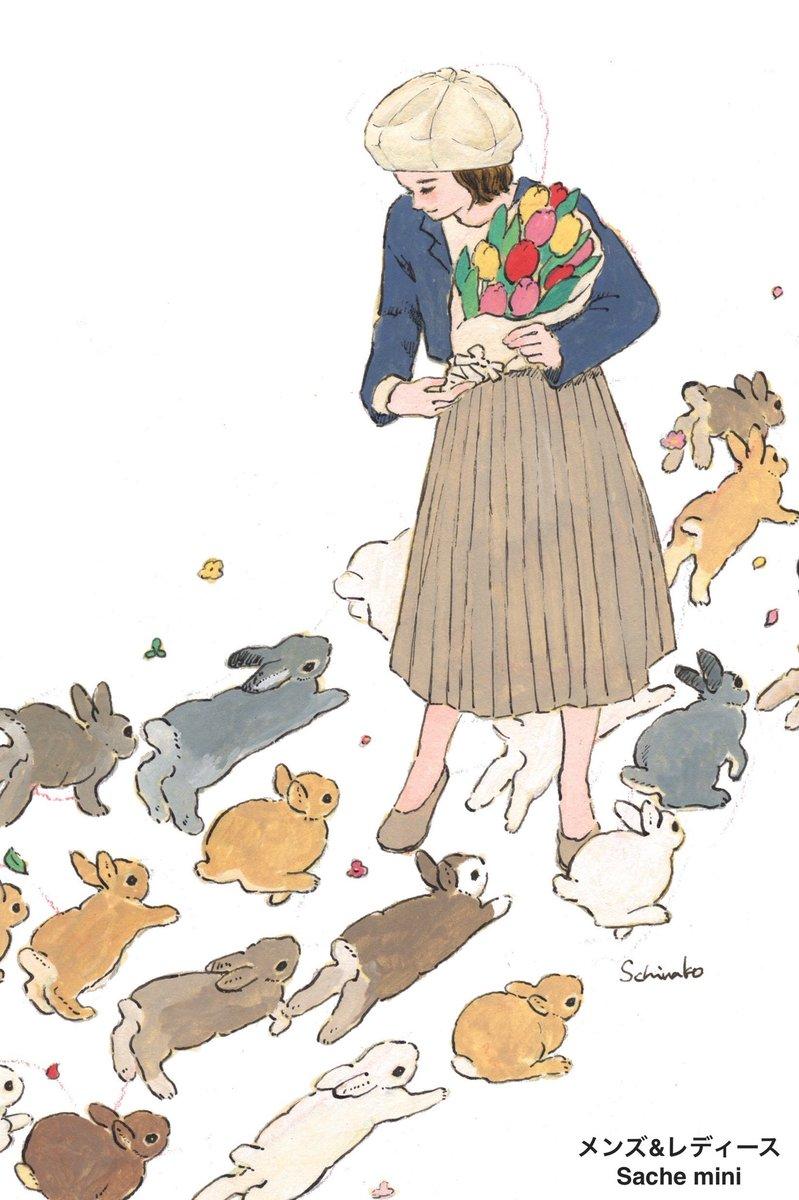 今日も暖かい1日になりそうですね!  この季節にオススメなベレー帽。 「ストローハット風」の生地は涼しげな見た目だけでなく使い易い...!  イラストは森山標子先生とコラボしました!