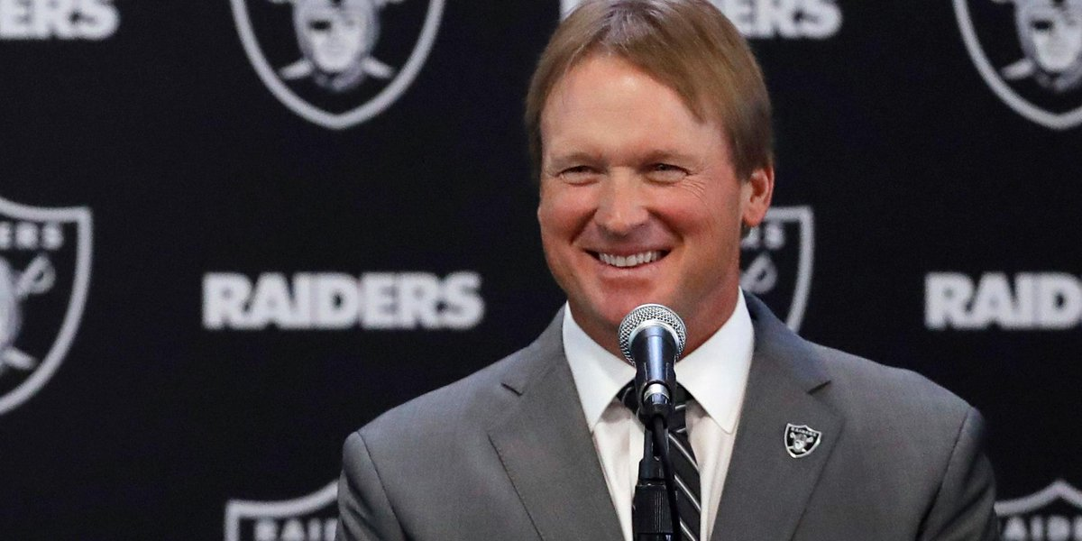 Jon Gruden's second tour with the @RAIDERS? Of course it begins on a Monday night: on.nfl.com/3oAGAc