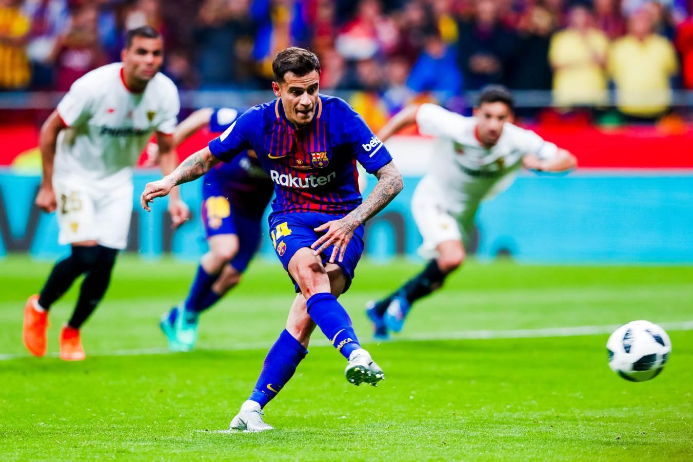 هدف برشلونة الخامس في مرمى إشبيلية