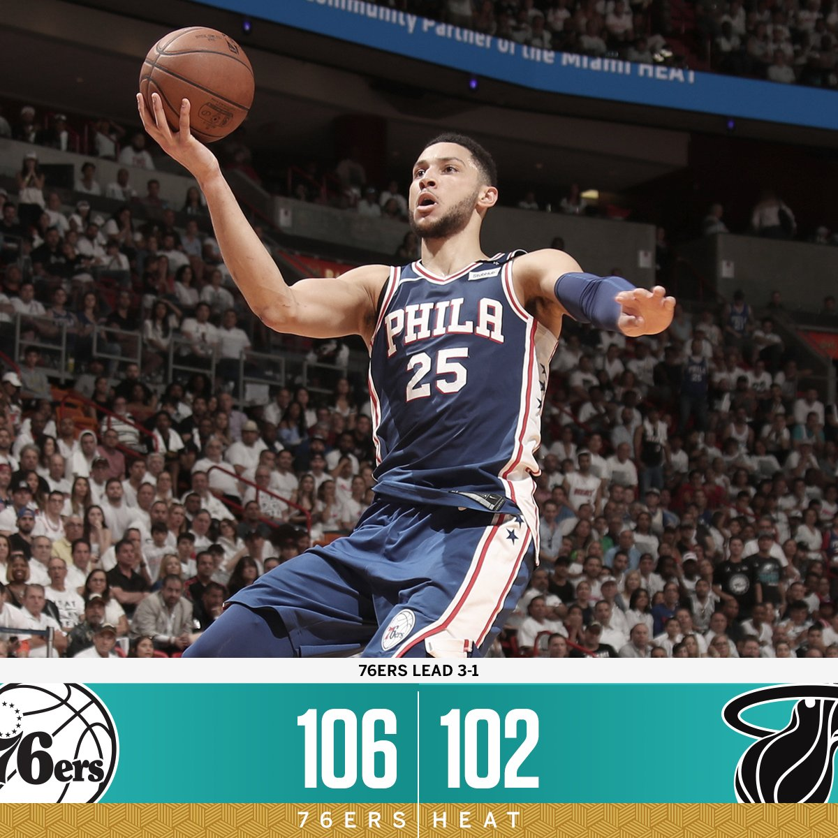Philly gets it done in Miami, and takes a 3-1 lead! https://t.co/sRfMiRugEz