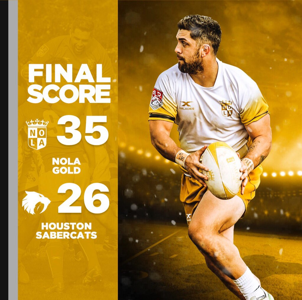 ec73c2d0e35 NOLA Gold brings home the first ever win of Major League Rugby! What an  honor, without our fans this wouldn't have been possible - thank you for  your ...