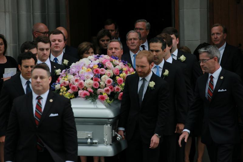Funeral de #Barbara #Bush en #Houston fo...