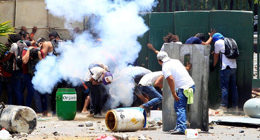 Nikaragua'da emeklilik reformu protestol...