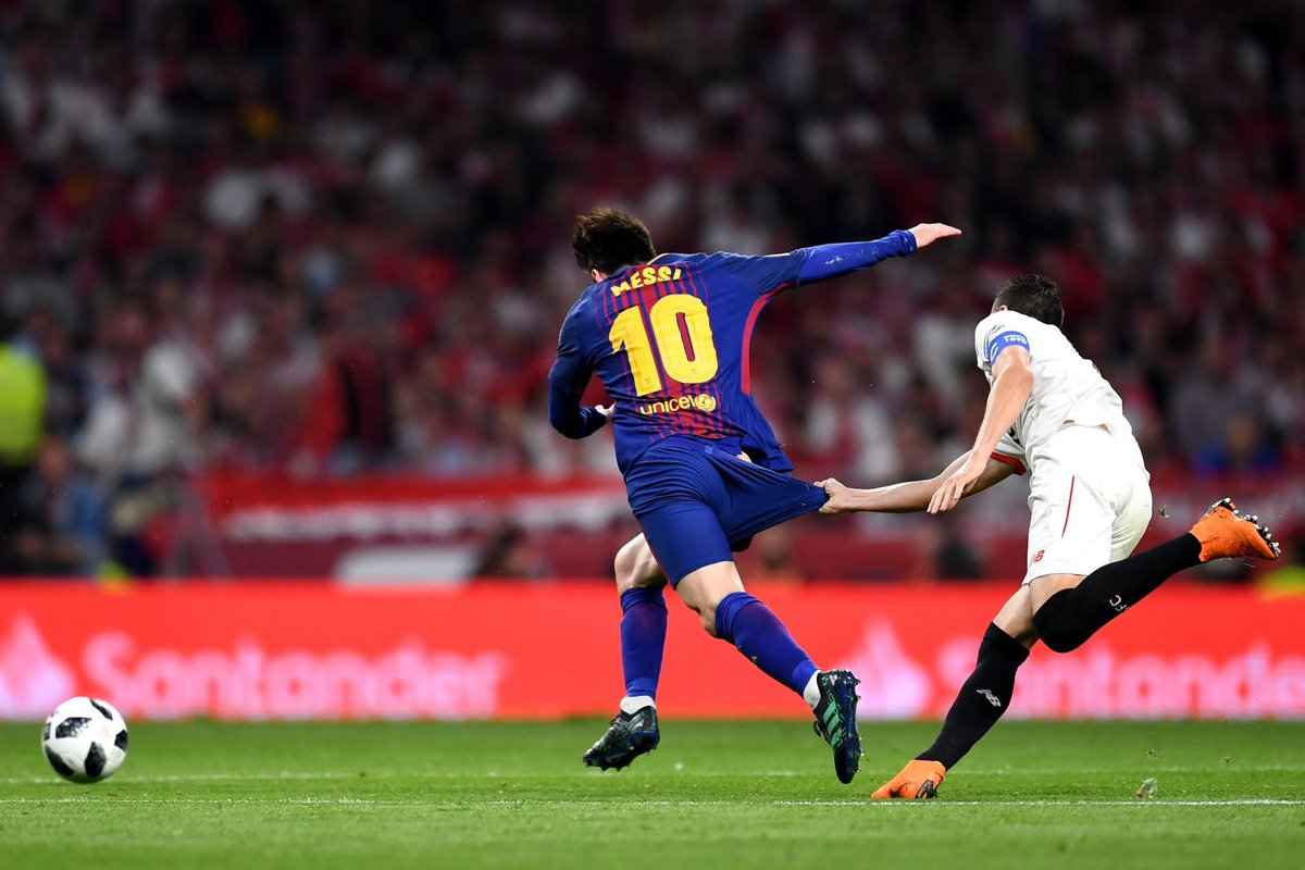 The only way to stop Messi...  #CopaBarça #Messi <br>http://pic.twitter.com/DeEBycaEiF