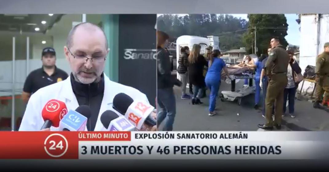 ⭕ #AHORA24H | Christian Ledermann, director médico de Sanatorio Alemán de Concepción, entrega información del destino de pacientes que estaban internados.  📡 Sigue la señal en vivo #24Play ➡  https://t.co/4y0QHh1IBh