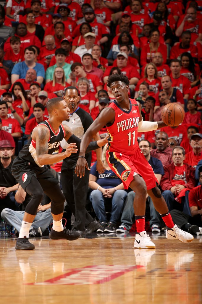 Intense first half in NOLA.  Pelicans lead the Blazers, 58-56.