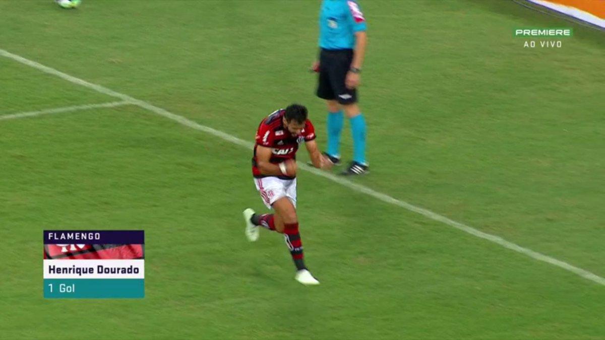 Henrique Dourado chega ao oitavo gol com...