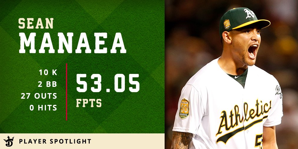 NO-HITTER!  Sean Manaea has tossed the first no-hitter of the season against the 1st-place Red Sox.