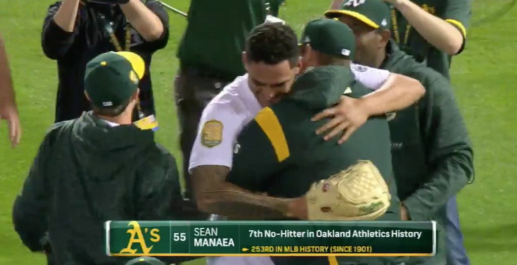 VIDEO: #Athletics get the first no-hitter of the season. 🙌 https://t.co/Bm7xJBT9Mr