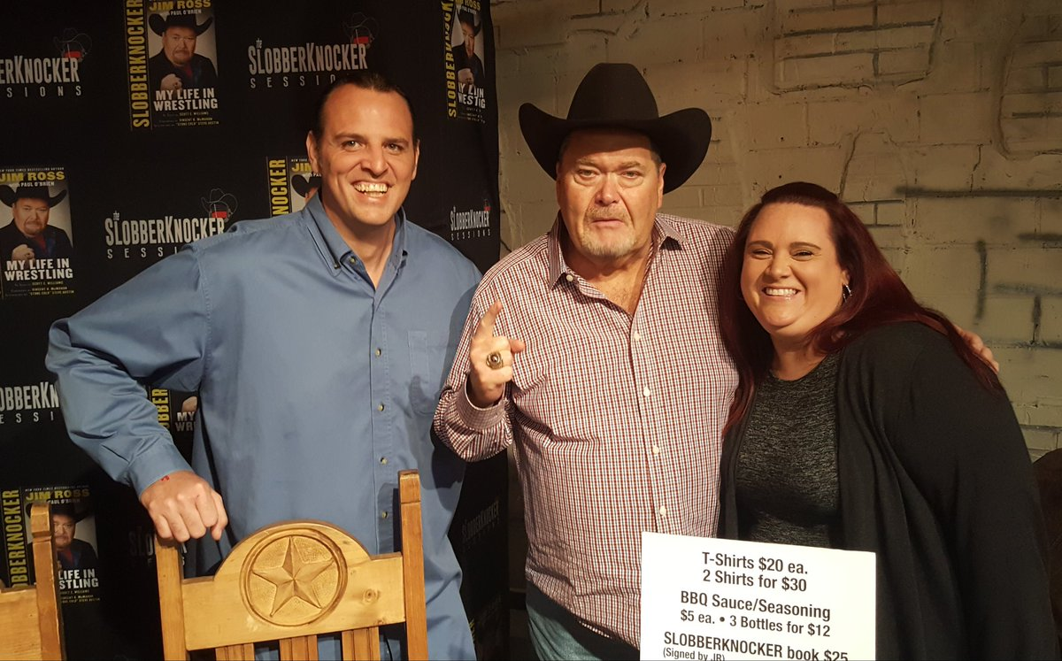 Finally got to meet the one &amp; only @JRsBBQ tonight! Come see him in #Denton at the last @IWRevolution show of the weekend!<br>http://pic.twitter.com/mf9thfiO0A