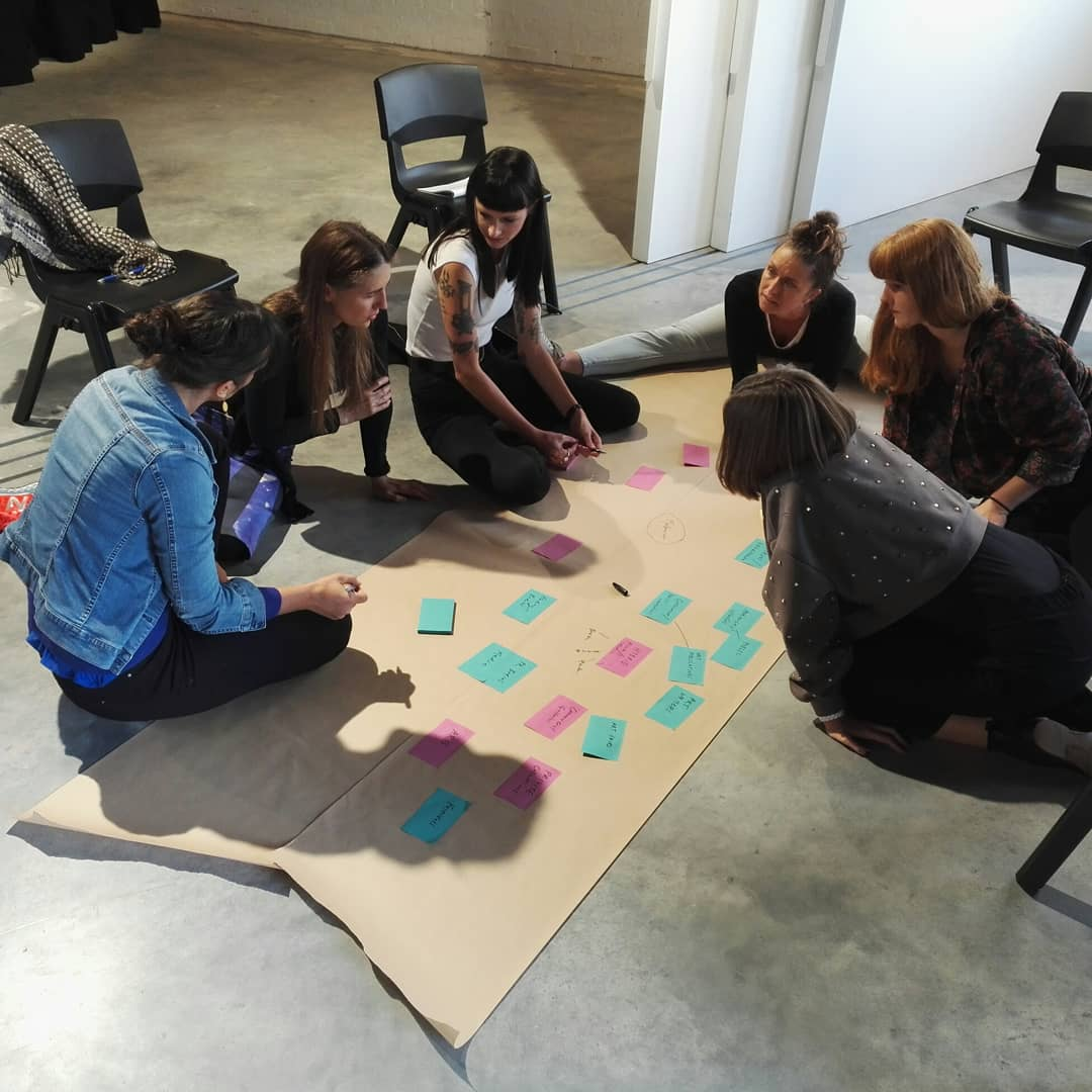 Yesterday was an incredible workshop day #changemakers @acp_projects - ideas in progress mapping Melbourne&#39;s art scene now and in 30 years time by curators @unimelb X artists @vca_mcm students...time for more cross-campus collaborative action! Thanks to @TessMaunder!<br>http://pic.twitter.com/9yewTrqIsL