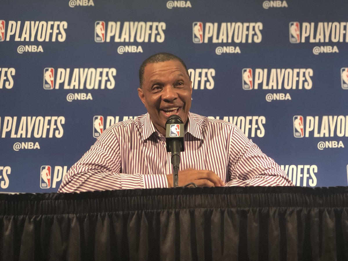 That's my coach!  Gentry is speaking with the media. Watch live: https://t.co/es6YOqpLj6 #DoItBigger