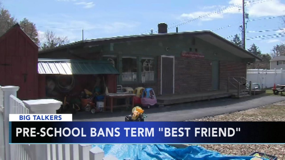 Massachusetts preschool bans kids from using term 'best friend' https://t.co/JLIzD610Ks