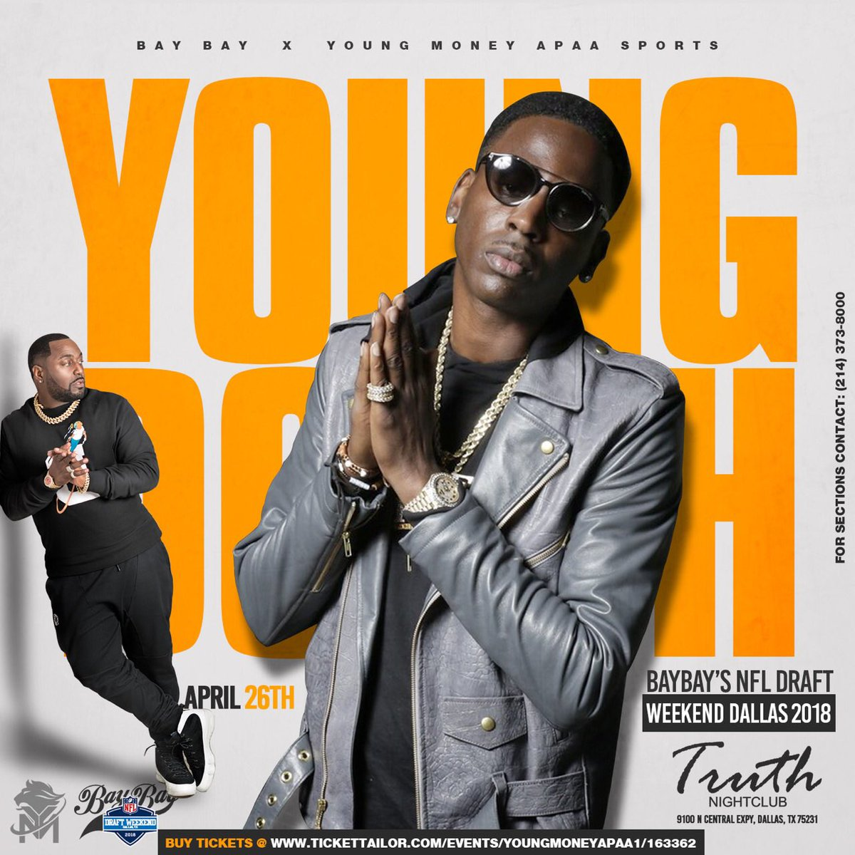 NEXT THURSDAY Doors Open At 8pm • @YoungDolph Will Be In The Building!!! Dont Miss The Young City Turn Up At Truth Nightclub  • 21+ #Dallas #DFW #Denton #DallasNightLife #TruthThursdays #YoungCityTurnUp #PriceGroup<br>http://pic.twitter.com/TlEK5x370t