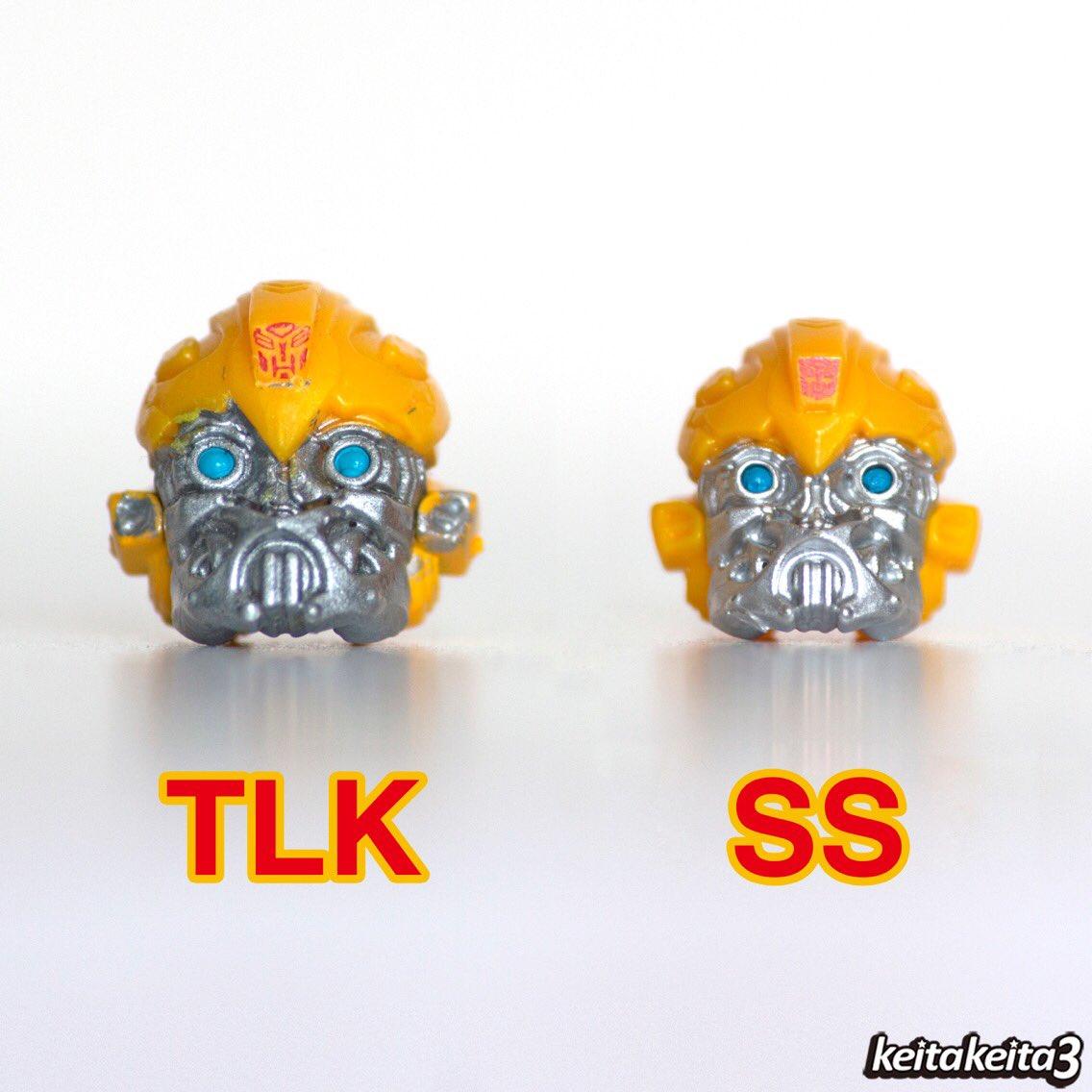 SSのヘッドをTLKのものに交換。一回り大きくなって、バランスがよくなった。 このままで変形もできるし、オススメ♪ #トランスフォーマー #バンブルビー