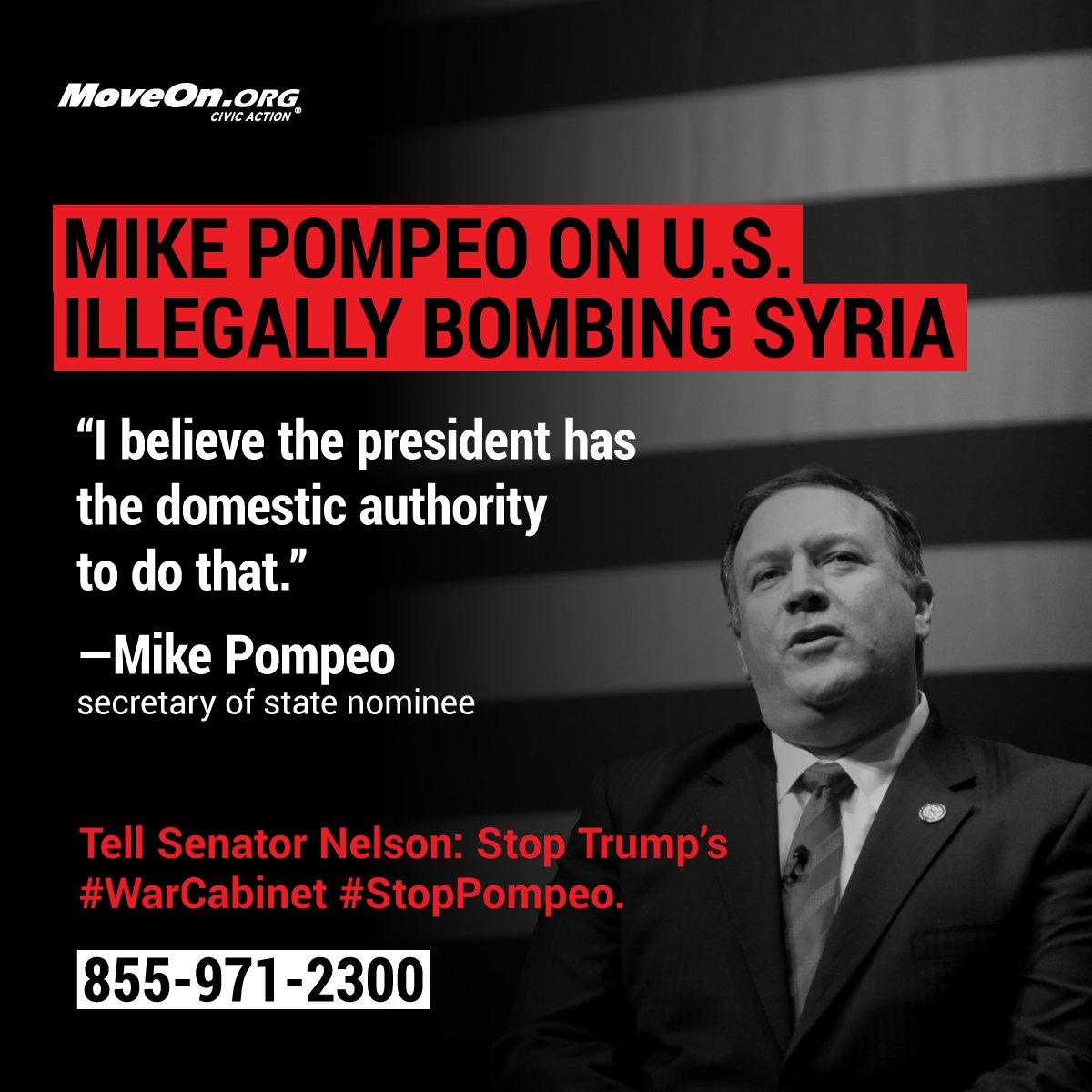 We need @SenBillNelson to stand w/ @RonWyden, @SenGillibrand, @PattyMurray, @timkaine... & block 's w@realDonaldTrumpar-loving  nom#SecOfStateinee. Demand  !@SenateDems#StopPompeo