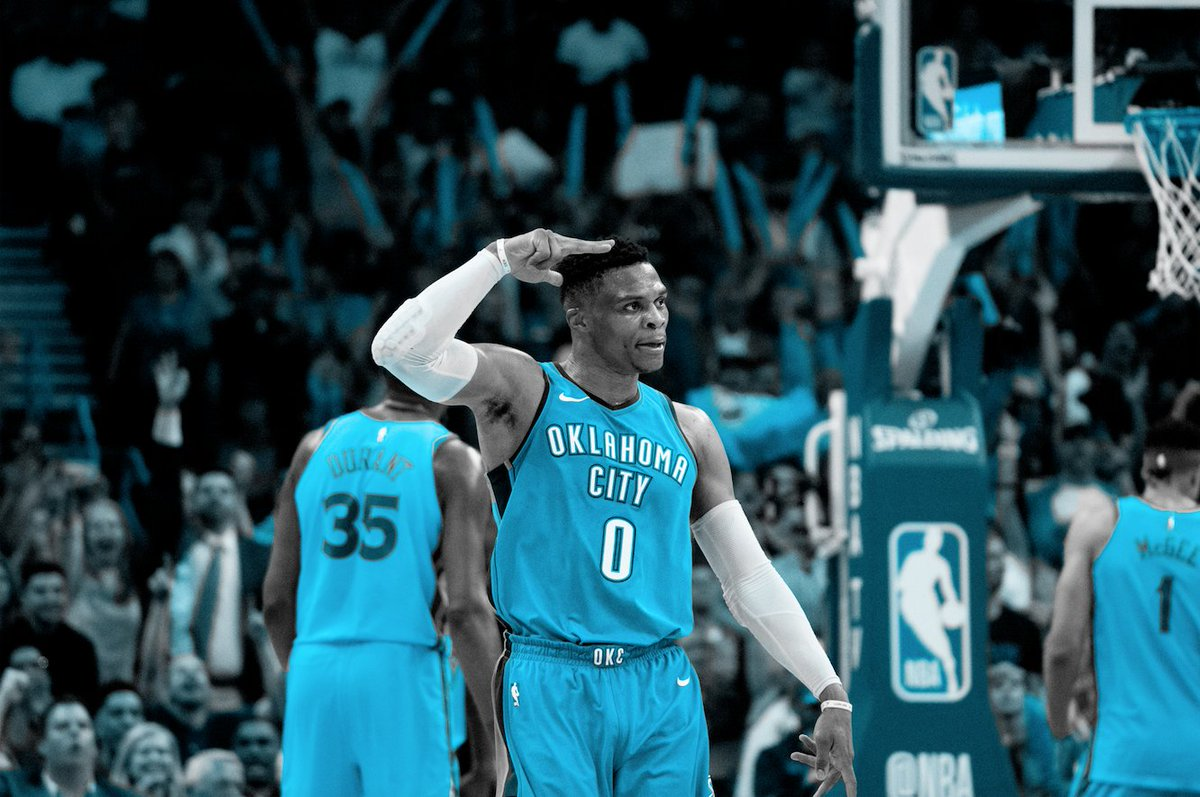 🏀Mitchell was the highest Jazz scorer in both #NBAPlayoffs games so far.  🏀Westbrook was the highest or second highest Thunder scorer in both #NBAPlayoffs games so far.  R.Westbrook and D.Mitchell to score over 62.5 pts combined #BetBoost 9️⃣/4️⃣ 📲https://t.co/jGVZY5P3ar