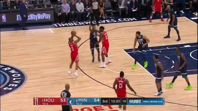 Chris Paul launches from beyond the arc! ������  @HoustonRockets back on top quickly in the 3rd.  #Rockets @ESPNNBA https://t.co/ZTsDSqH3Qn