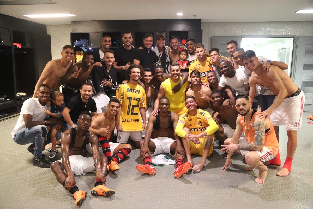 Acabou. Foi um dia emocionante para cada um de nós. Obrigado mais uma vez, Julio. #AveJulioCesar   📸 Gilvan de Souza / Flamengo