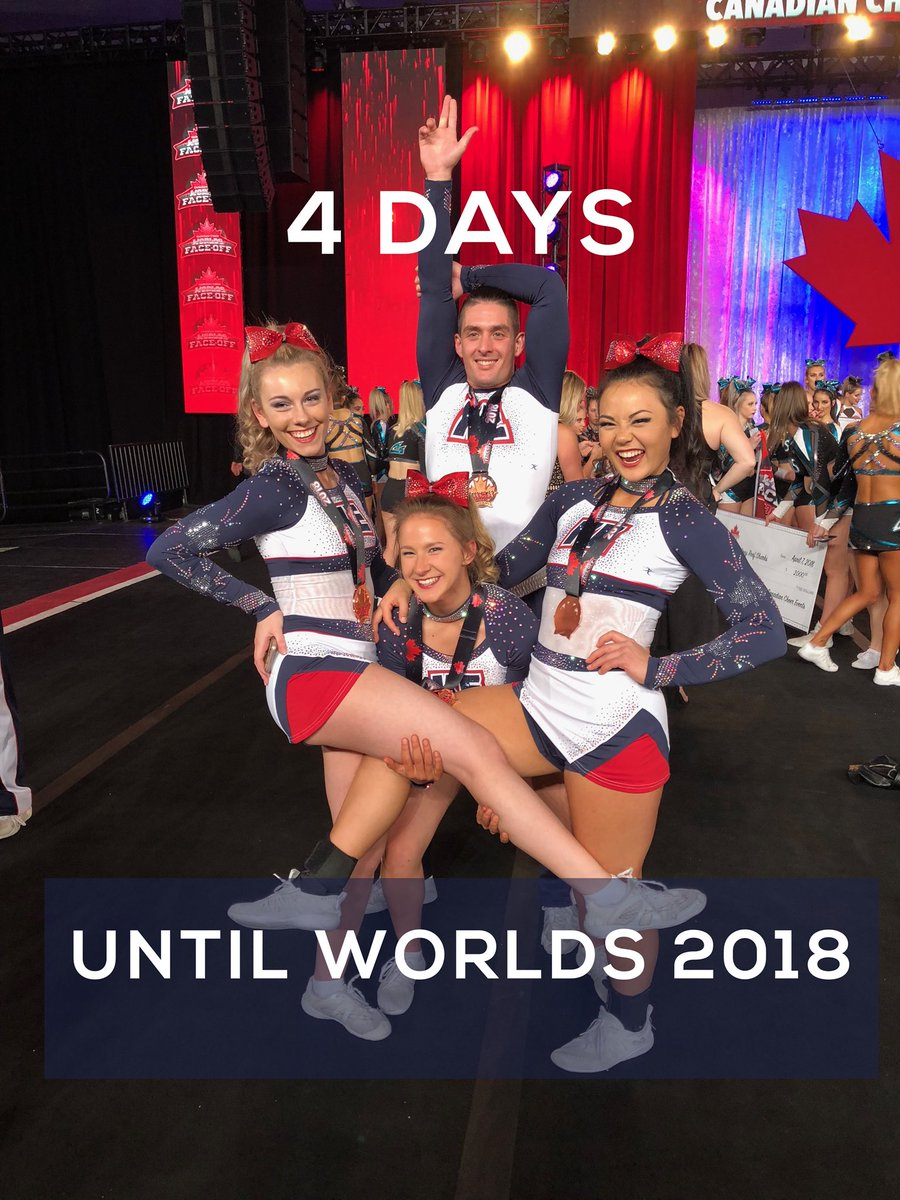 WE ARE SO EXCITED: just 4 more days until Worlds 2018 😍 Are you ready? #CheerDistrict #Worlds2018 @KingstonElite