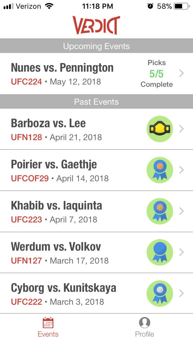 Finally! First belt!! @VerdictMMA