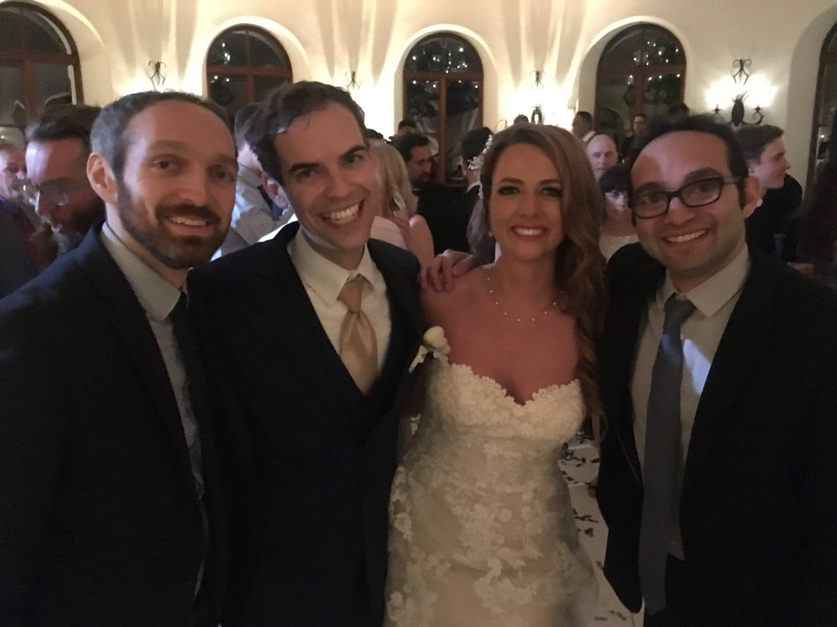 A perfect night. Can not be happier for our dearest friends @jacksfilms and @2ToesUp on their wedding tonight - we love you!!!