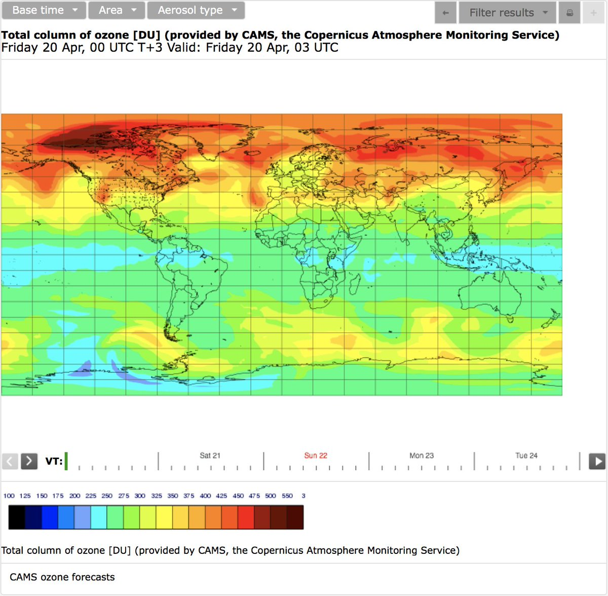 Latest view of global #wildfires  #ozone #AirQuality #GHG and #aerosol for #EarthDay2018 from #Copernicus Atmosphere Monitoring Service and #ECMWF. Latest charts for these products and more are updated daily at  http:// atmosphere.copernicus.eu/charts/cams/  &nbsp;  .<br>http://pic.twitter.com/GGjyw1jlcH
