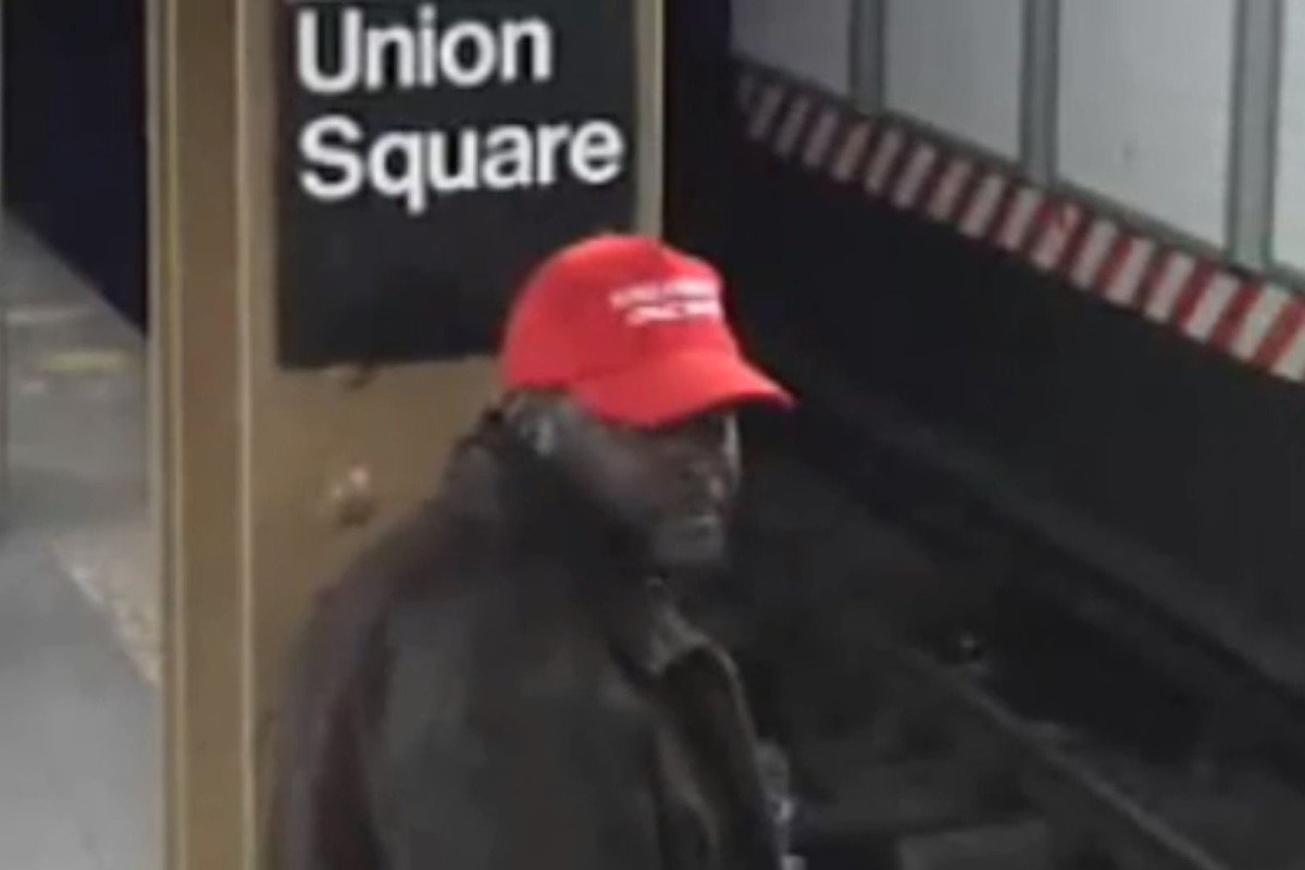 Man wearing 'MAGA' hat shoves stranger onto subway tracks https://t.co/ww4aMmX2py