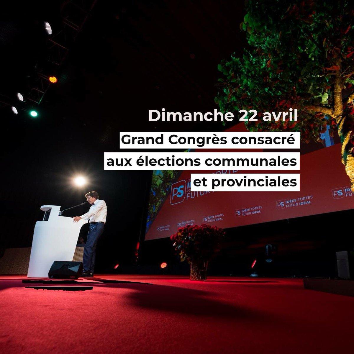 Je vous donne rendez-vous dans moins d'une heure à Charleroi Danse pour notre grand Congrès consacré aux élections communales et provinciales. Vous pourrez suivre notre Congrès en LIVE sur la page Facebook du @PSofficiel. Quant à moi, je serai en direct aux alentours de 12h30