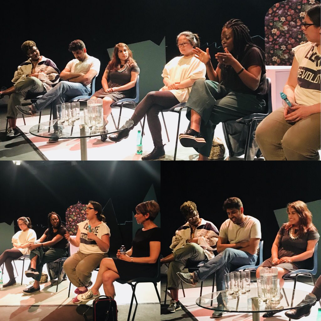 A huge thank you to our post-show panel last night. So much to unpick on #representation; they shared such intelligent, impassioned, insightful ideas. Sensitively chaired by @bobimono. Big up @VinayPatel @g_ting @Clarissa_Widya @TitiTheWriter @VictoriaJSadler @1isthinking!<br>http://pic.twitter.com/UKephhDe4p