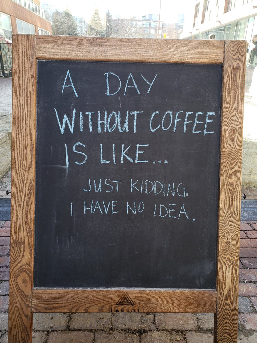 #love this #sign I saw #yesterday  &quot;A #day #without #coffee is #like ... just #kidding I have no #idea &quot;   #lol #quote #quotes #quotestoliveby #quotesforlife #quotesoftheday #coffeetime #CoffeeLover #coffeelovers #coffeeaddict #coffeelove #coffeebreak<br>http://pic.twitter.com/I3dkPD1Oam