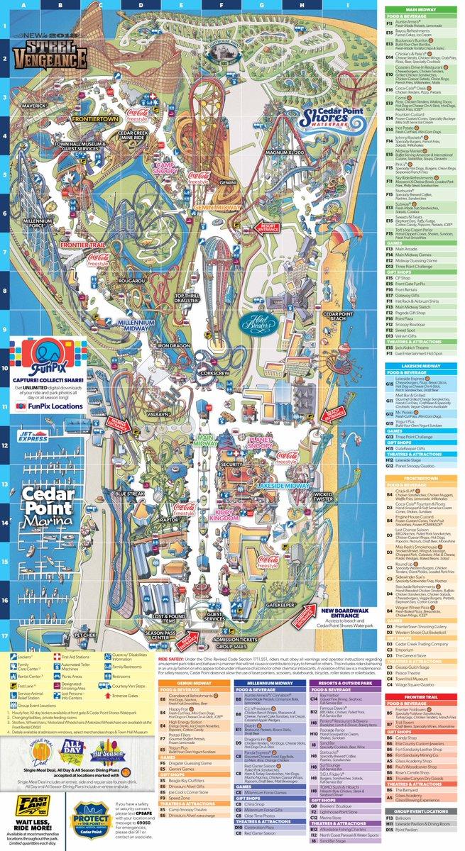 Cedar Point Map on