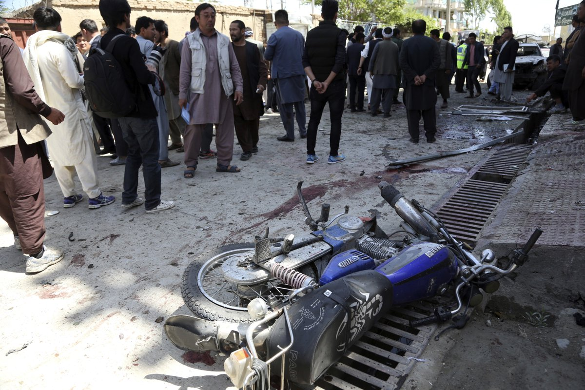 At least 31 people have been killed and 54 wounded after a suicide bomber targeted a voter registration center in Kabul.